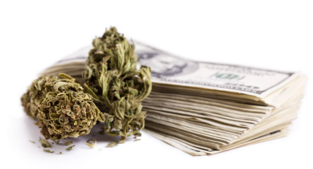 weed and stack of cash
