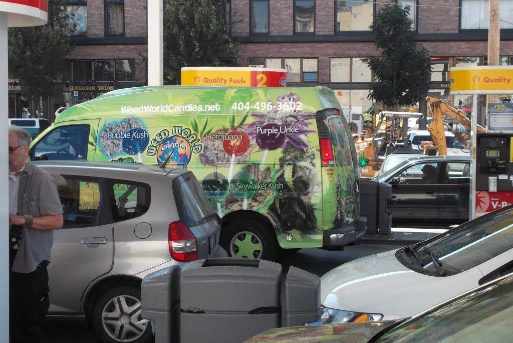 weed delivery van