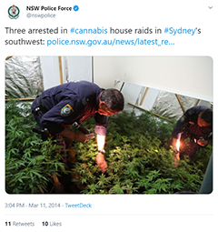 nsw police grow house tweet
