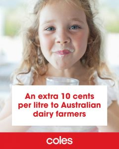 coles milk advertisement